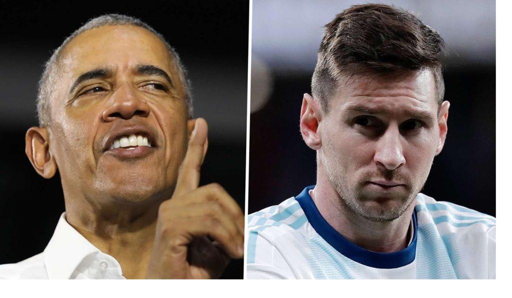 Mantan Presiden A.S. Barrack Obama menawarkan nasihat kepada Messi yang 'luar biasa'