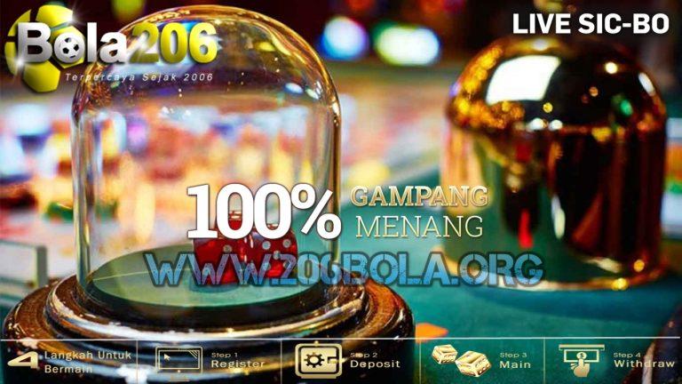 Bukti pemenang Live casino Sic Bo